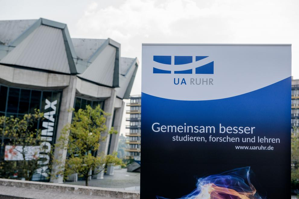 Roll-up der Universitätsallianz Ruhr vorm Audimax